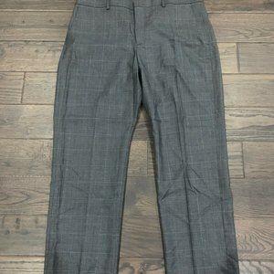 Express Producer Straight Leg Grey Dress Pants Men